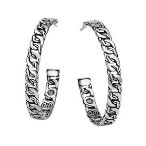 New John Hardy medium classic chain hoop earrings